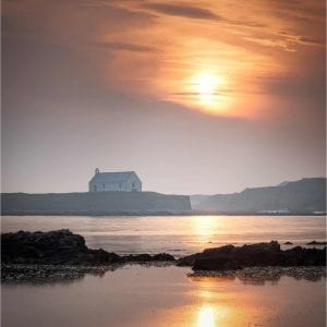 April Sunset at St Cwyfan's, Aberffraw, Anglesey